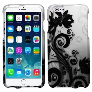 INSTEN Rubberized Flora Design Dust Proof Hard Plastic Phone Case Cover for Apple iPhone 6 4.7-inch