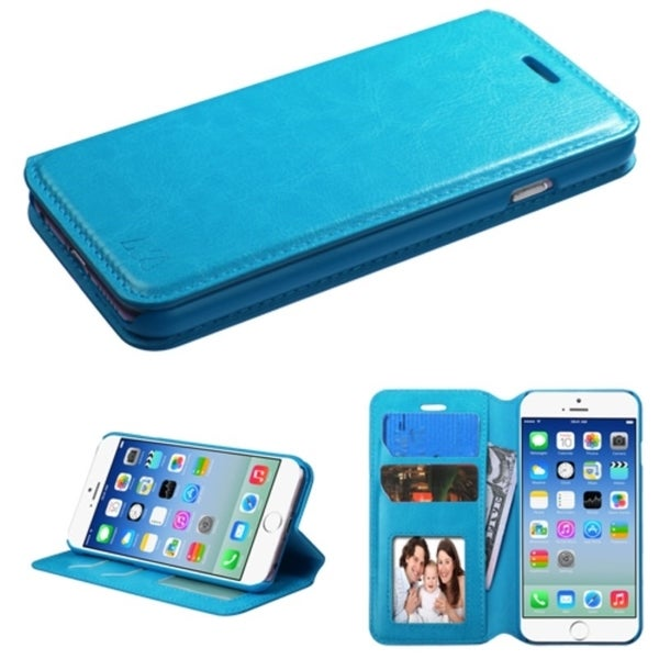 INSTEN Magnetic Flap Wallet Stand Leather Phone Case Cover for Apple iPhone 6 4.7-inch