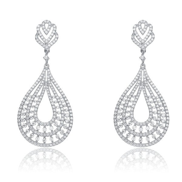 s pear and earrings product david bridal accessories blue wedding drop crystal