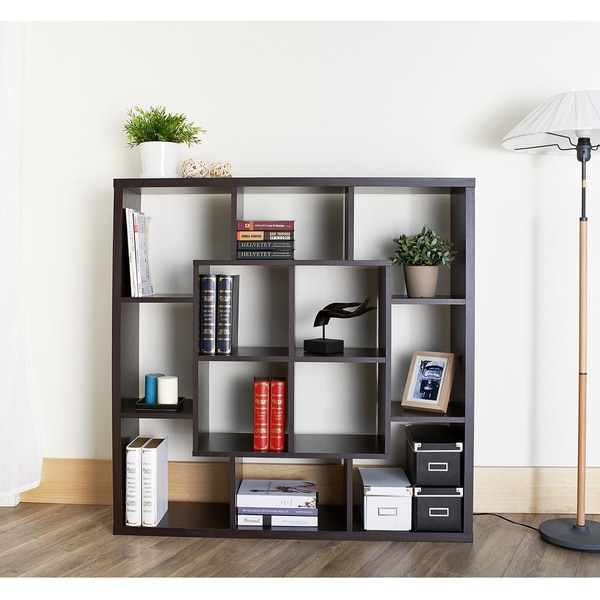 Furniture of America Kenichi Multi-Functional Espresso Bookshelf/Room Divider