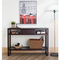 Furniture of America Neviah Espresso Open Modern Entryway Table