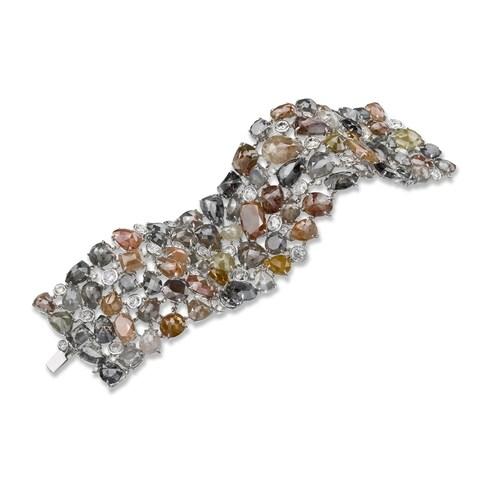 Neda Behnam 18k White Gold 210 1/8ct TDW Rough Diamond Bracelet
