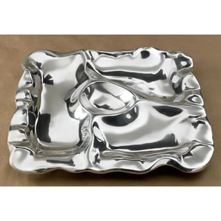 16-inch Square Free Form 4-Section Tray