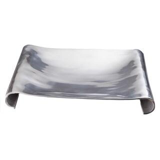 16-inch Square Aluminum Scroll Tray