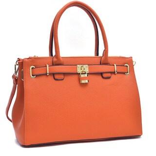 Dasein Adjustable-top Padlock Tote Bag