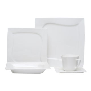 Red Vanilla Niagara White 20-piece Dinner Set