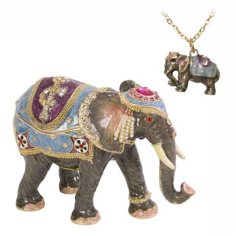 Kathmandu Elephant Trinket Box by Versil