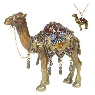 Desert Camel Enamel Trinket Box