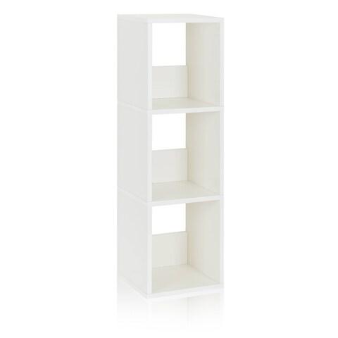 Camden Eco 3-Shelf Narrow Bookcase Storage Shelf by Way Basics LIFETIME GUARANTEE