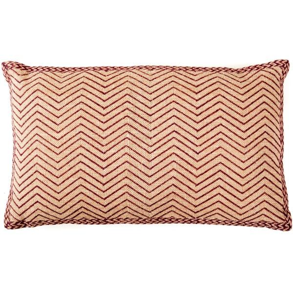 Handmade Pin Zag Decorative Accent Pillow