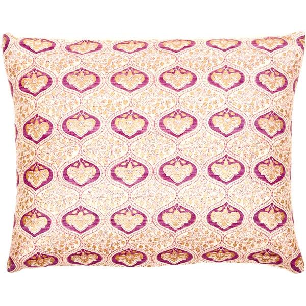 Handmade Tussar Ghiccha Decorative Accent Pillow