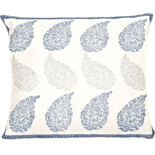 Trendsage Loom Decorative Accent Pillow (Blue)