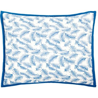 Trendsage Fern Blue Decorative Accent Pillow
