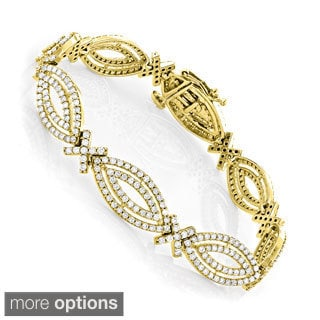 Luxurman 14k Gold 5ct Marquise-cut White Diamond Bracelet (H-I, SI1-SI2)