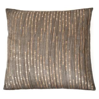 Trendsage Sequins Charcoal Decorative Accent Pillow