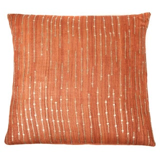 Trendsage Sequins Orange Decorative Accent Pillow