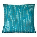 Trendsage Sequins Teal Decorative Accent Pillow
