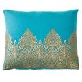 Handmade Mughal Teal Decorative Accent Pillow