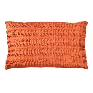 Handmade Shell Orange Decorative Accent Pillow