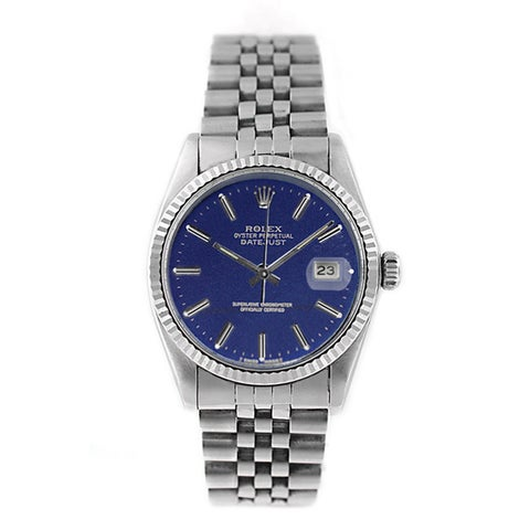 Pre-owned Rolex Men's Datejust 16014 Stainless Steel Watch