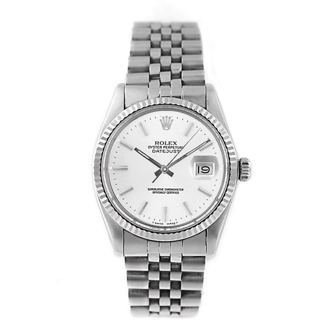 Pre owned Rolex Mens Datejust 16014 Stainless Steel Silve...