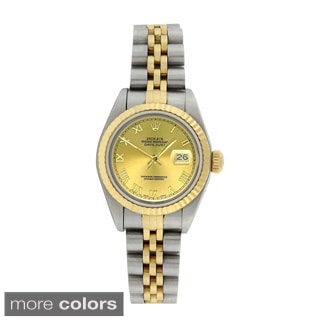 Pre-owned Rolex Women's 79173 Datejust Stainless Steel 18k Yellow Gold Watch