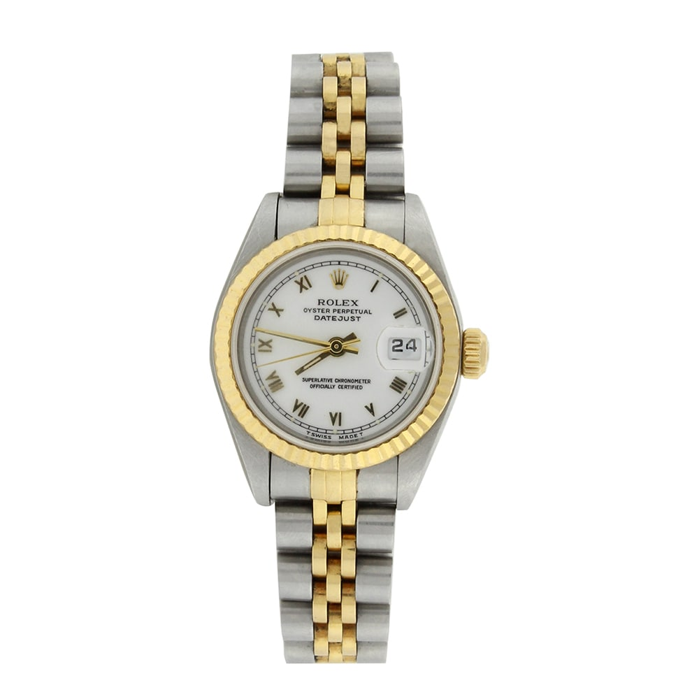 Rolex Datejust Ladies 18K Yellow Gold Steel Watch Jubilee...