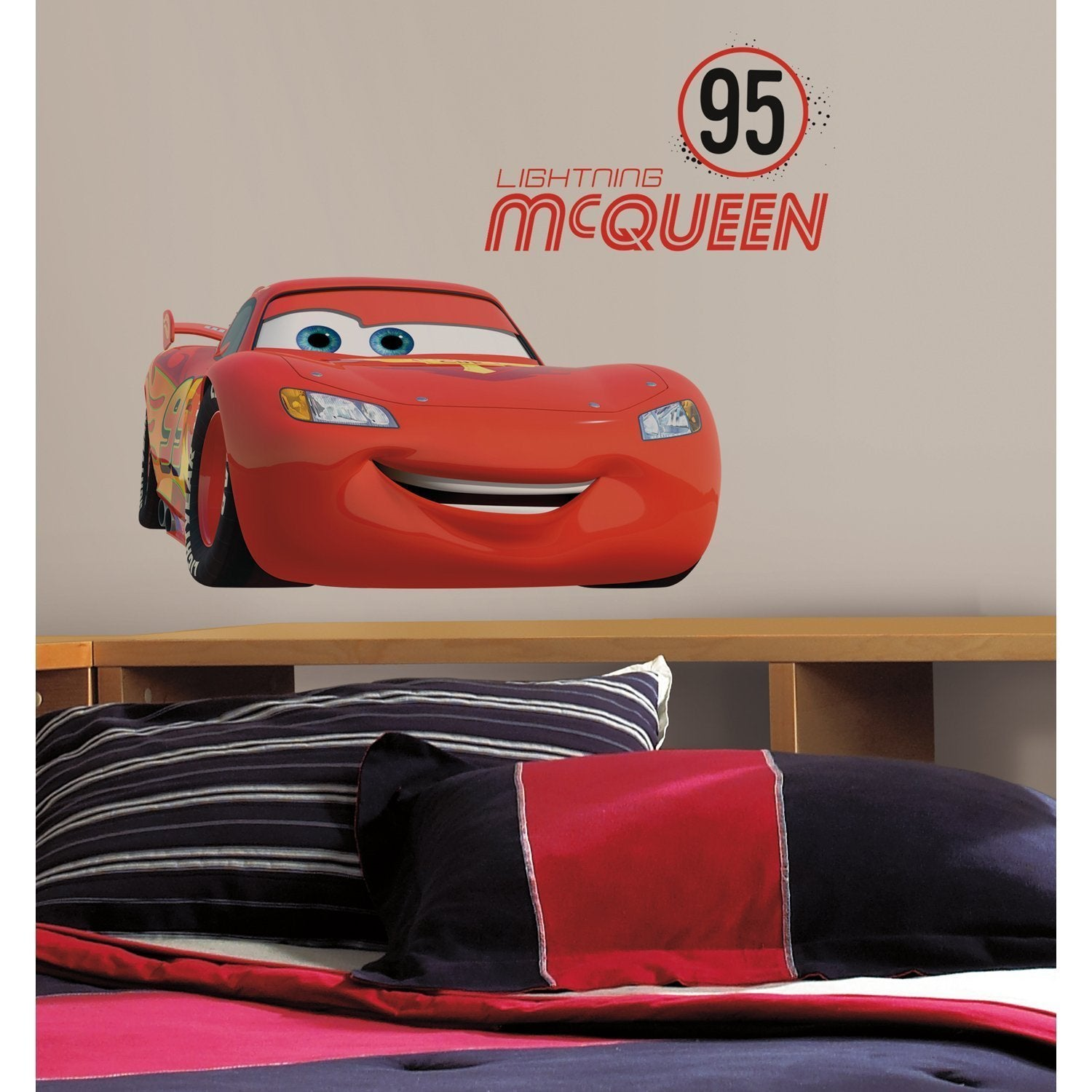 RoomMates Disney Lightning McQueen Number 95 Peel and Sti...