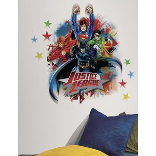 DC Justice League Peel & Stick Giant Wall Decals