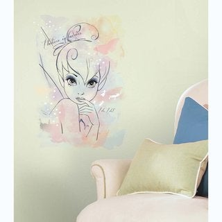 Disney Tink 'I Believe in Fairies' Watercolor Graphic Peel and Stick Wall Decals