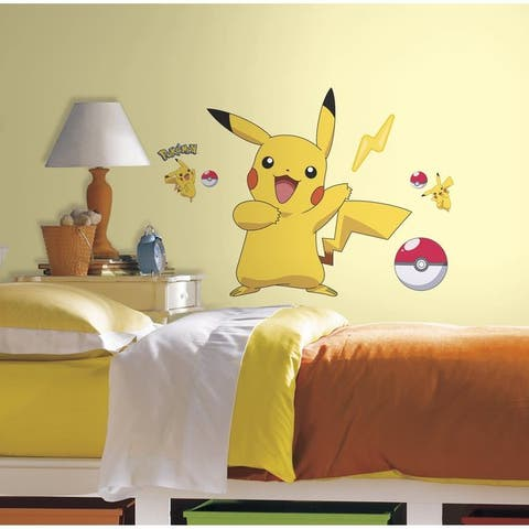 Roommates Pokemon Pikachu Vinyl Peel and Stick Wall Decals