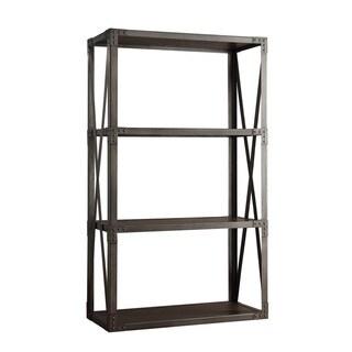 SIGNAL HILLS Sedgwick Vintage Industrial Modern Bracket Metal 40-inch Bookcase