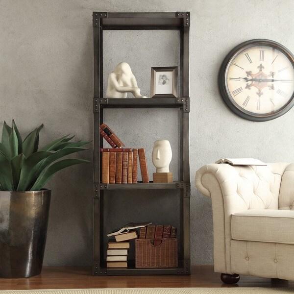 SIGNAL HILLS Sedgwick Vintage Industrial Modern Bracket Metal 26-inch Bookcase