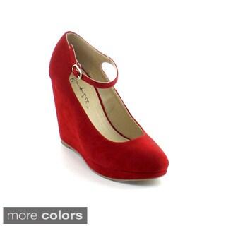 Bonnibel Women's 'Choo-1' Ankle Strap Platform Wedges