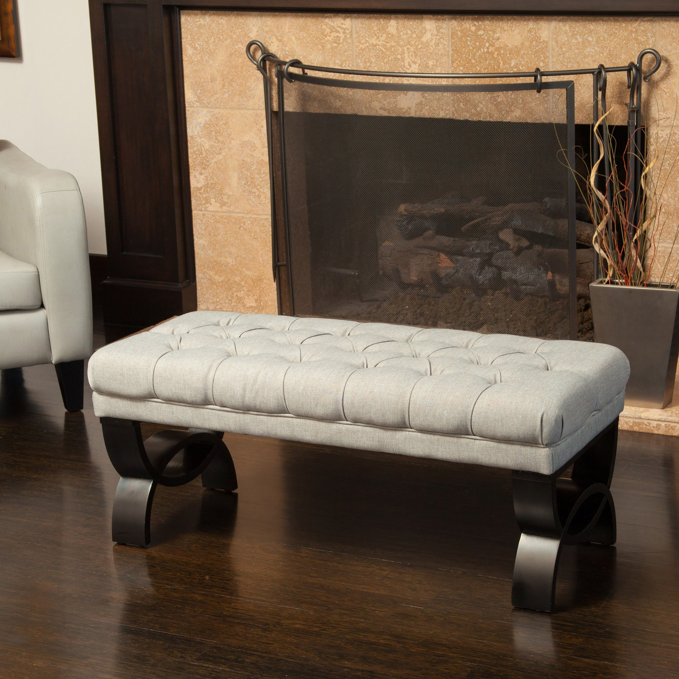 Scarlette Tufted Fabric Ottoman Bench By Christopher