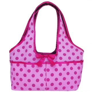 AnnLoren Polka Dot Print Doll Carrier Tote for 18-inch Dolls