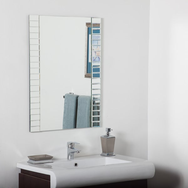 Shop Beveled Bathroom Mirror Silver 31 5hx23 6wx 5d