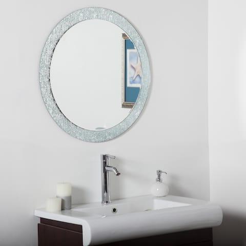 Molten Bathroom Round Mirror - Silver - 27.6 dia x .5D