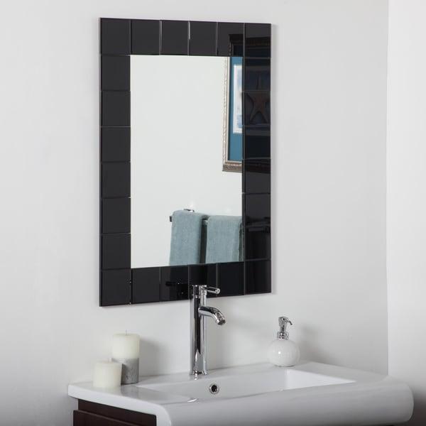 Shop Montreal Black Modern Bathroom Mirror Free Shipping Today 9353005