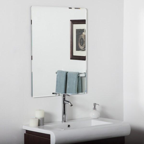Vera Frameless Bathroom Mirror - Silver - 31.5Hx23.6Wx.5D. Opens flyout.