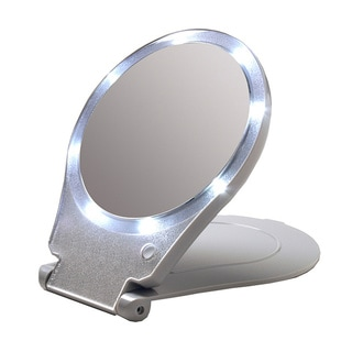 Floxite LED Lit Travel and Home 10x Magnification Mirror