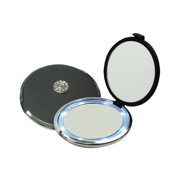 Compact Illuminating 10x Magnifying Mirror