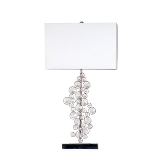 Elegant Designs Sequin and Chrome Table Lamp with Crystals