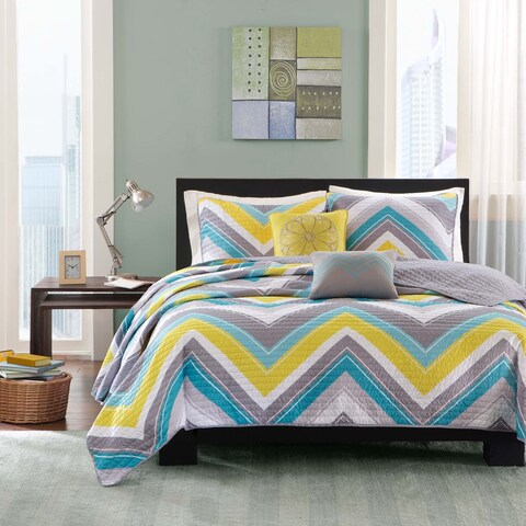 Intelligent Design Ariel 5-piece Coverlet Set