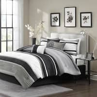 Porch & Den Denvers White/ Grey/ Black 7-piece Comforter Set