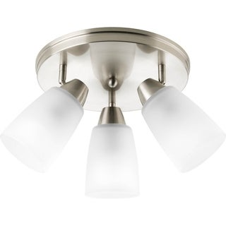 Progress Lighting Brushed Nickel 3-light Directional Flush Mount Fixture