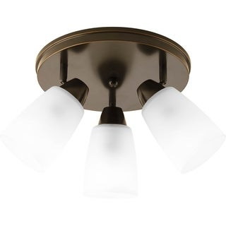 Progress Lighting Brown 3-light Directional Flush Mount Fixture