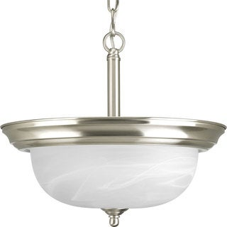 Progress Lighting 2-light Brushed Nickel Semi-flush Mount Fixture