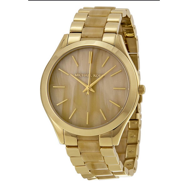 Michael Kors Women's MK4285 'Runway' Champagne Dial Stainless Steel Watch