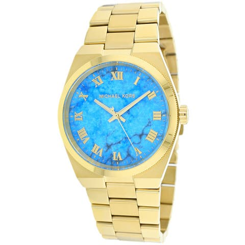 Michael Kors Women's MK5894 Channing Turquoise Dial Goldtone Stainless Steel Watch